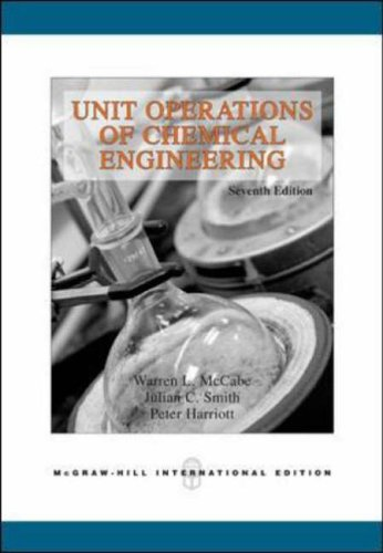 Unit Operations of Chemical Engineering (Int'l Ed) By Warren L. McCabe