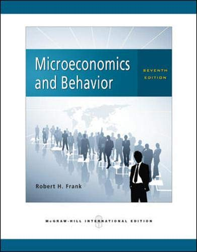 Microeconomics and Behavior By Robert H. Frank