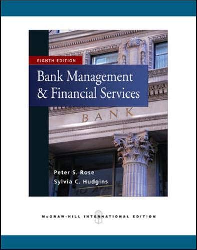Bank Management & Financial Services w/S&P bind-in card By Peter S. Rose
