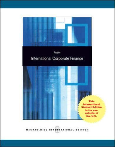 International Corporate Finance By J. Ashok Robin