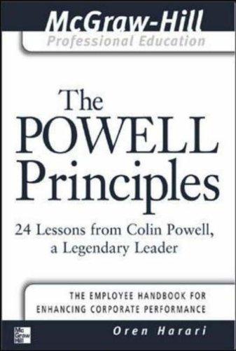 The Powell Principles By Oren Harari