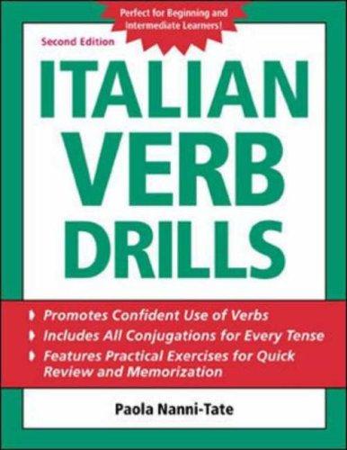 Italian Verb Drills 2/E By Paola Nanni-Tate