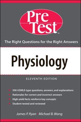 Physiology By James P. Ryan (TEMPLE UNIV PHILADELPHIA)