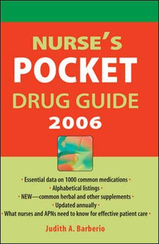 Nurse's Pocket Drug Guide 2006 By Judith A. Barberio