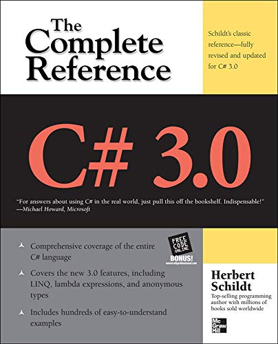 C# 3.0 THE COMPLETE REFERENCE 3/E By Herbert Schildt