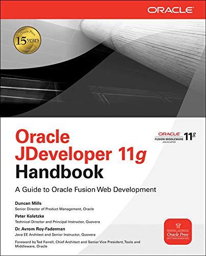 Oracle JDeveloper 11g Handbook By Duncan Mills