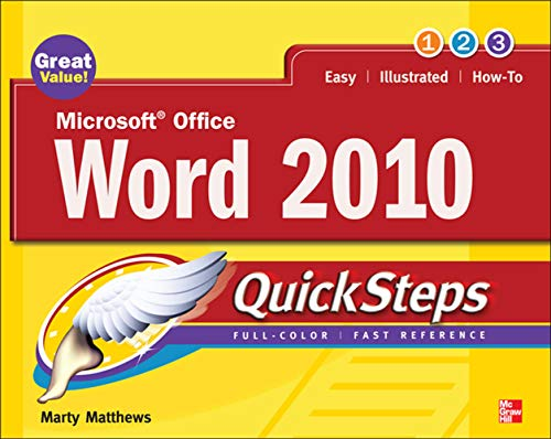 Microsoft Office Word 2010 QuickSteps By Marty Matthews
