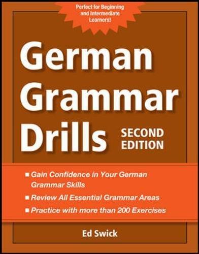 German Grammar Drills By Ed Swick