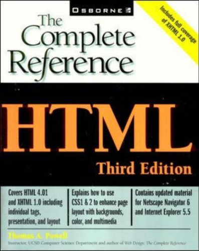 HTML: The Complete Reference By Thomas Powell
