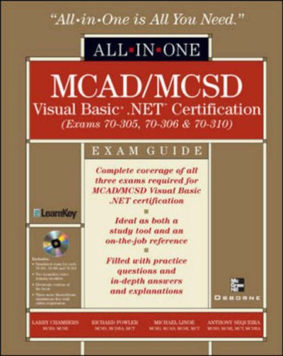 MCAD/MCSD Visual Basic .NET Certification All-in-One Exam Guide By Larry Chambers