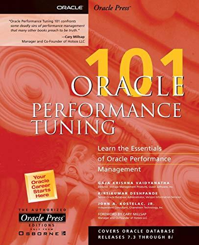 Oracle Performance Tuning 101 By Gaja Vaidyanatha