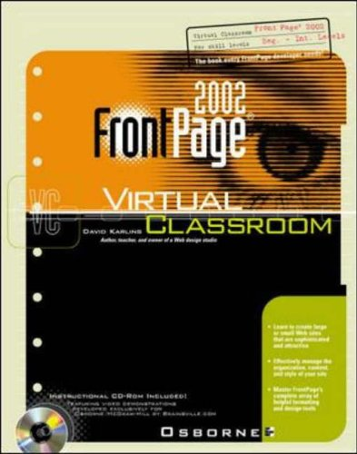 FrontPage 2002 Virtual Classroom By David Karlins