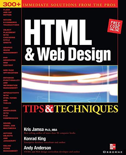 HTML & Web Design Tips & Techniques By Kris Jamsa