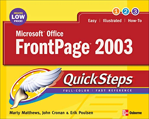 Microsoft Office FrontPage 2003 QuickSteps By Martin Matthews