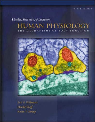 Vander et al.'s Human Physiology By Eric Widmaier