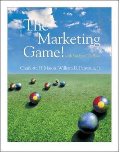 The Marketing Game! (with student CD ROM) By Charlotte H. Mason