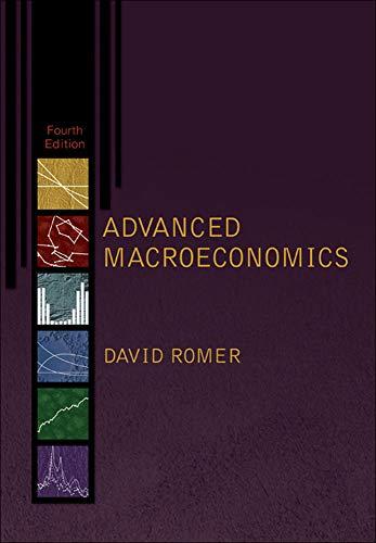 Advanced Macroeconomics by David H. Romer