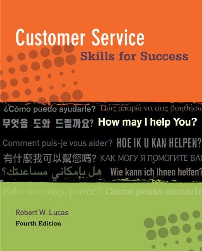 Customer Service Skills for Success By Robert W Lucas