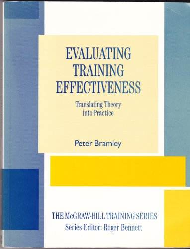 Evaluating Training Effectiveness By Peter Bramley