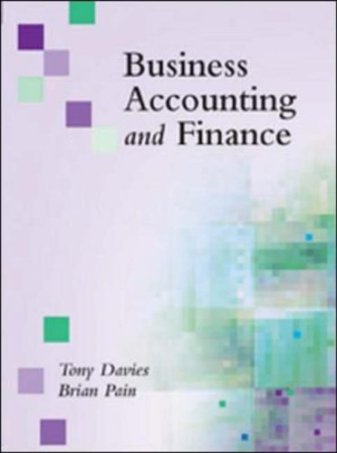 Business Accounting and Finance By Brian Pain
