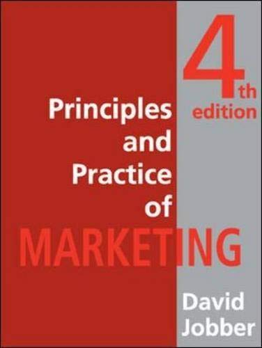 Principles and Practice of Marketing By David Jobber