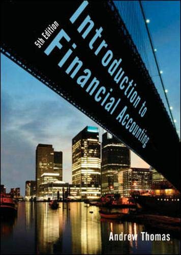 An Introduction to Financial Accounting By Andrew Thomas