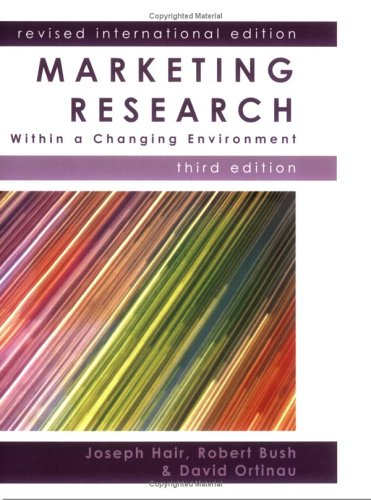 Marketing Research By Jr.  Joseph Hair
