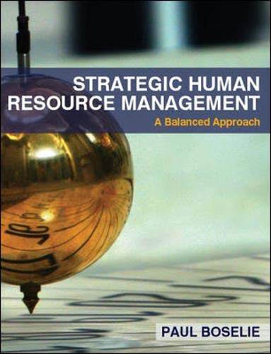 Strategic Human Resource Management By Paul Boselie