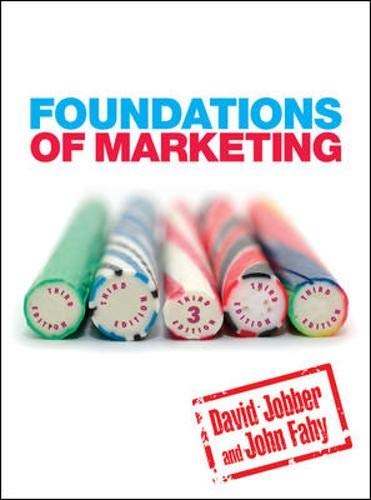 Foundations of Marketing By David Jobber