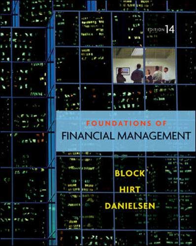Foundations of Financial Management with Time Value of Money card By Stanley B. Block
