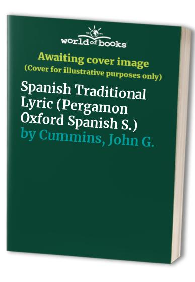 Spanish Traditional Lyric By John G. Cummins
