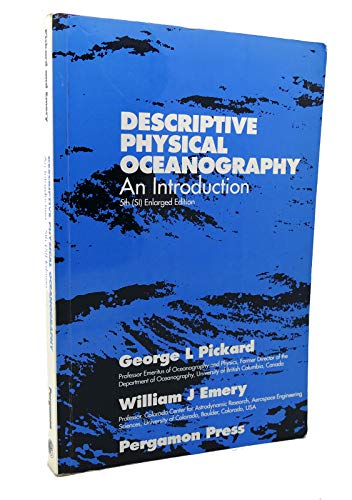 Descriptive Physical Oceanography By George L. Pickard