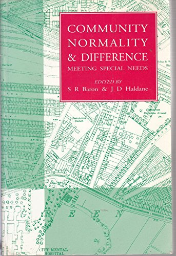 Community, Normality and Difference By Stephen R. Baron
