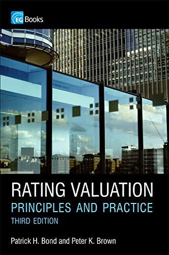 Rating Valuation By Patrick H. Bond