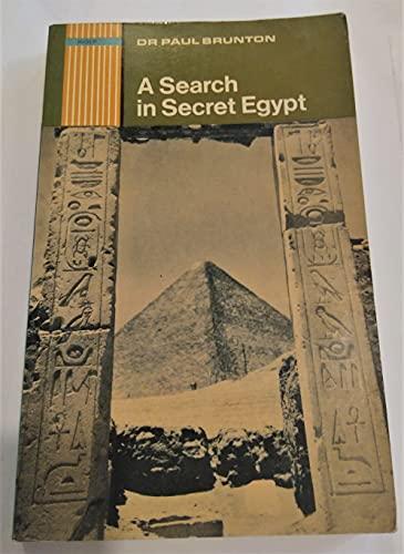 A Search in Secret Egypt By Paul Brunton