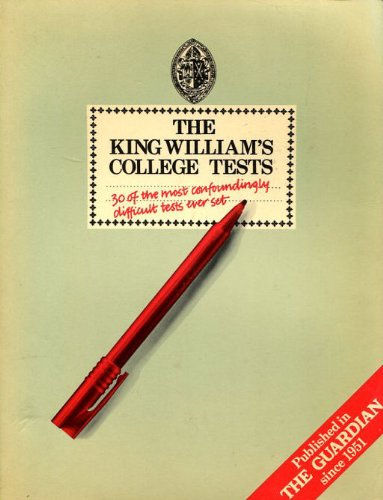 The King William's College Tests By R.W.H. Boyns