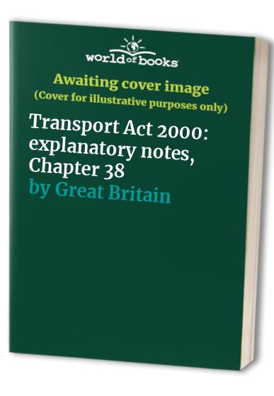 Transport Act 2000 By Great Britain