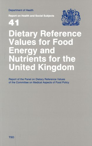 Dietary reference values for food energy and nutrients for the United Kingdom By Great Britain: Committee on Medical Aspects of Food Policy