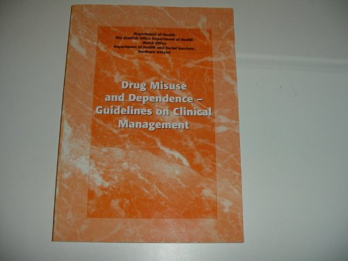 Drug Misuse and Dependence By Dept.of Health