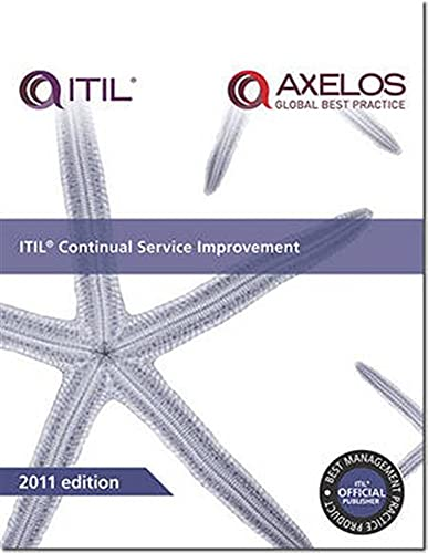 ITIL Continual Service Improvement (Best Management Practices) By Great Britain: Cabinet Office