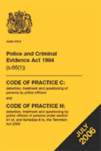 Police and Criminal Evidence Act 1984 By Great Britain: Home Office