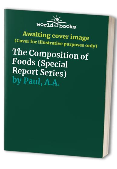 The Composition of Foods By Robert Alexander McCance