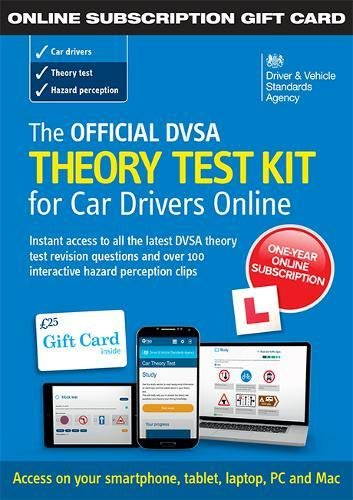 The Official DVSA Theory Test Kit for Car Drivers - online subscription gift card By Driver and Vehicle Standards Agency