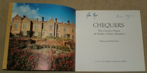 Chequers: The Country Home of Britain's Prime Ministers By Civil Service Dept.
