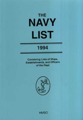 The Navy List 1994 By Great Britain