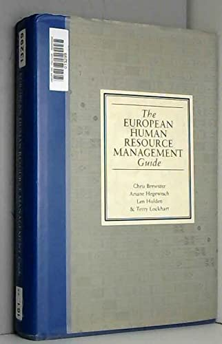 The European Human Resource Management Guide By Edited by Chris Brewster