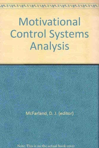 Motivational Control Systems Analysis By Edited by David McFarland