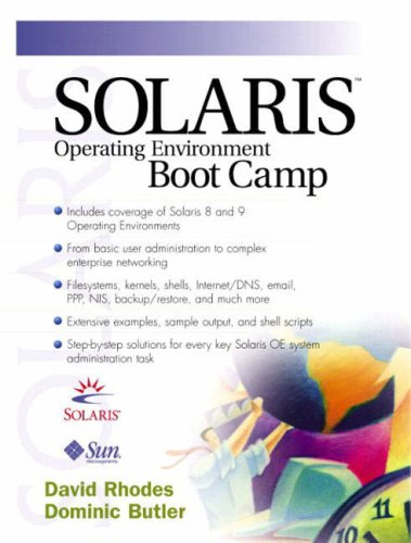 Solaris Operating Environment Boot Camp By David Rhodes
