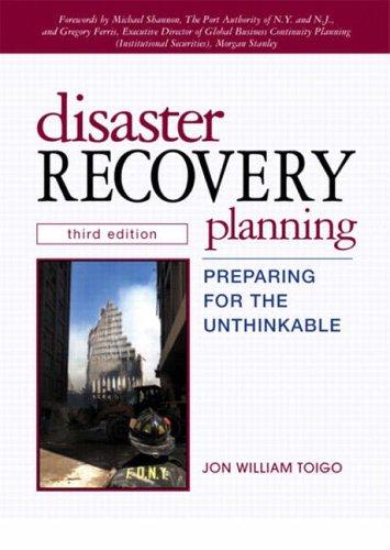 Disaster Recovery Planning By Jon William Toigo