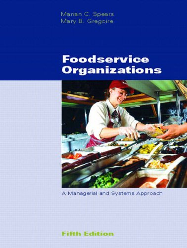 Foodservice Organizations By Marian C. Spears